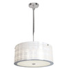 Access Lighting 17-3/4-in W Kalista Chrome Pendant Light with White Shade