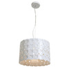 Access Lighting 14-1/2-in W Lacey Cream Pendant Light with Frosted Shade