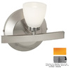 Access Lighting 7-1/4-in W Classical 1-Light Matte Chrome Arm Wall Sconce