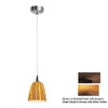 Access Lighting 4-1/8-in W Tungsten Bronze Art Glass Mini Pendant Light with Tiffany Style Shade