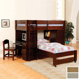 Furniture of America Harford Dark Walnut Twin Bunk Bed CM-BK529EXP