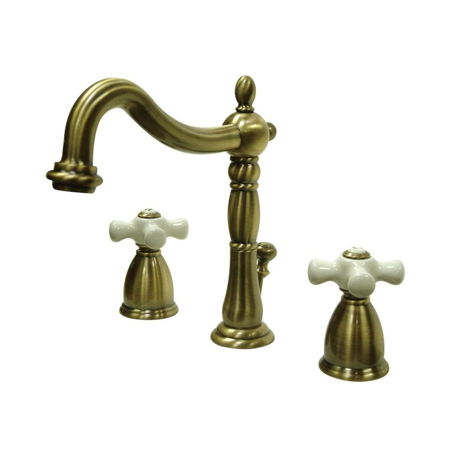 Brass Bathroom Faucets Widespread : ... Brass 2-Handle Widespread Bathroom Sink Faucet (Drain Included) at