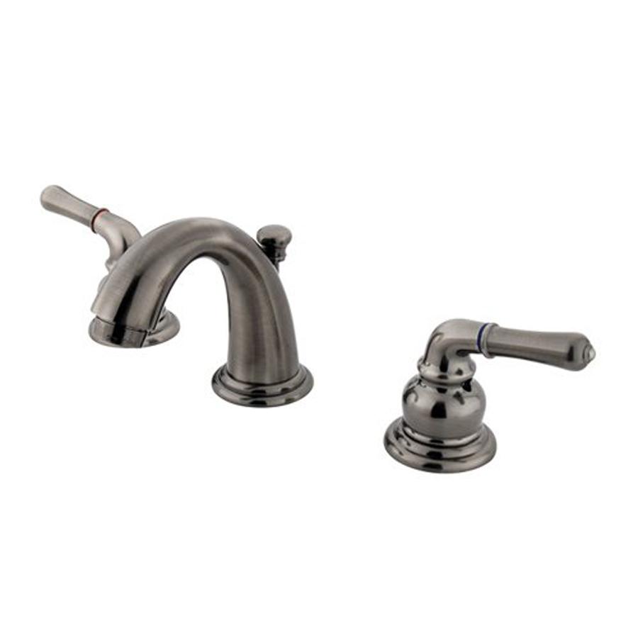 Shop Elements Of Design Magellan Vintage Nickel 2 Handle 4 In Mini Widespread Bathroom Sink