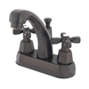 Elements of Design Metropolitan Oil-Rubbed Bronze 2-Handle 4-in Centerset Bathroom Sink Faucet (Drain Included)