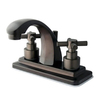 Elements of Design Tampa Oil-Rubbed Bronze 2-Handle 4-in Centerset Bathroom Sink Faucet (Drain Included)