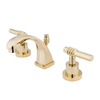 Elements of Design Milano Polished Brass 2-Handle 4-in Mini Widespread Bathroom Sink Faucet (Drain Included)