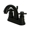 Elements of Design Oil-Rubbed Bronze 2-Handle 4-in Centerset Bathroom Sink Faucet (Drain Included)