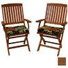 Blazing Needles Vanya Paprika Patio Chair Cushion