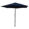 International Caravan Navy Market Patio Umbrella