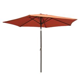 International Caravan Terra Cotta Market Patio Umbrella