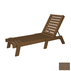 shop polywood captain plastic patio chaise lounge at