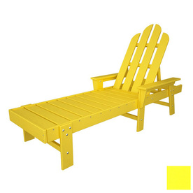 shop polywood long island plastic patio chaise lounge at