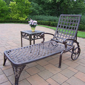 Oakland Living Oakland Elite Cast Aluminum Patio Chaise Lounge 1108-2106-2-AB