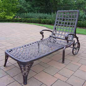 Oakland Living Oakland Elite Cast Aluminum Patio Chaise Lounge 1108-AB