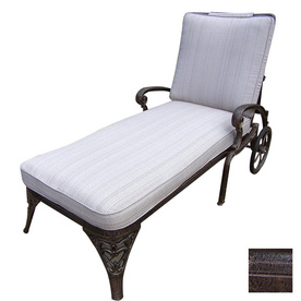 Oakland Living Mississippi Cast Aluminum Patio Chaise Lounge 2108-2-AB