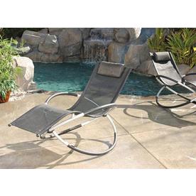 Shop rst outdoor cast aluminum patio chaise lounge at for Cast aluminum outdoor chaise lounge