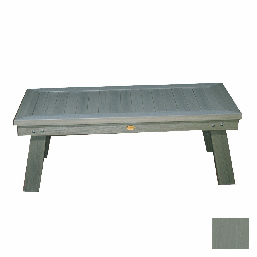 Shop Highwood Usa Pocono Plastic Rectangle Patio Coffee Table At