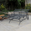 International Caravan Mandalay Double Wrought Iron Patio Chaise Lounge
