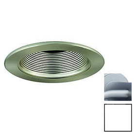 Shop JESCO 4 In Satin Chrome Baffle Recessed Lighting Trim At