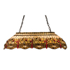 Meyda Tiffany Scarlet Dragonfly 20.5-in W 6-Light Mahogany Bronze Kitchen Island Light with Tiffany-Style Shade