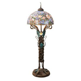 Meyda Tiffany 73-in Tiffany-Style Floor Lamp with Glass Shade