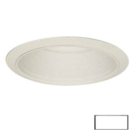 Volume International White Baffle Recessed Light Trim (Fits Housing Diameter: 6-in)