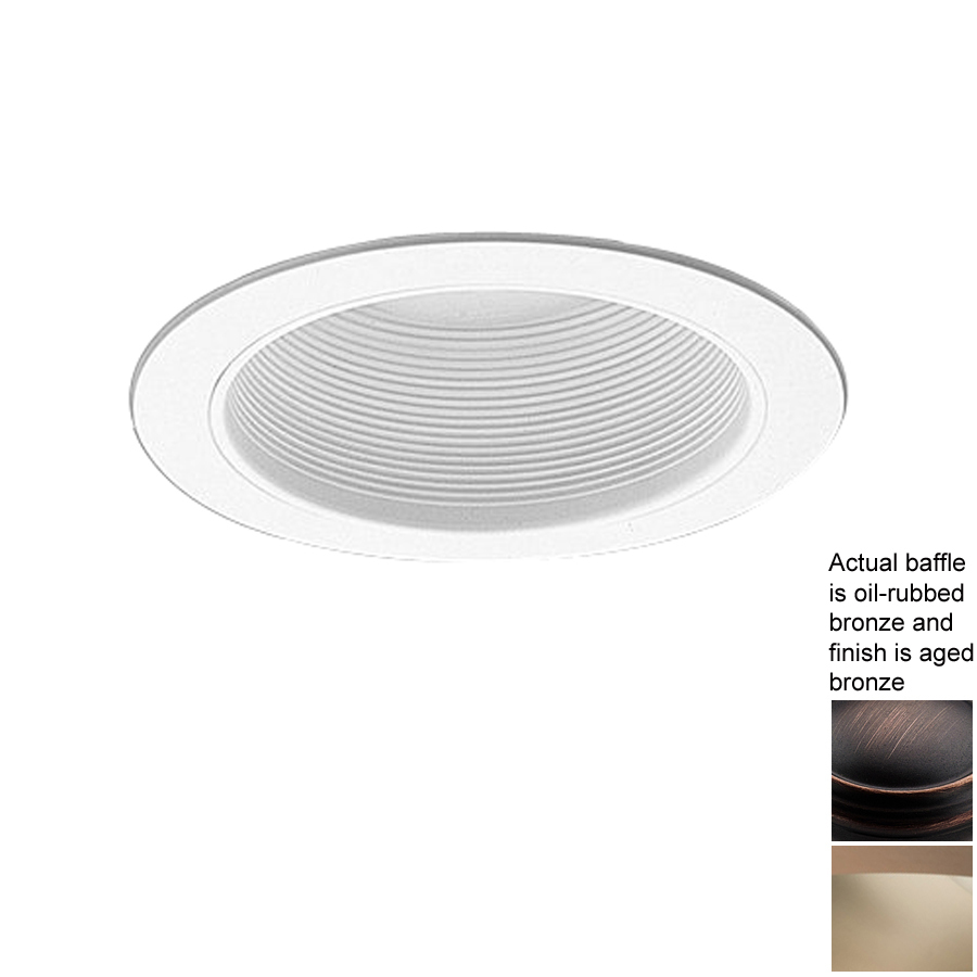 ring baffle recessed light trim fits housing diameter 6 in at lowes. Black Bedroom Furniture Sets. Home Design Ideas