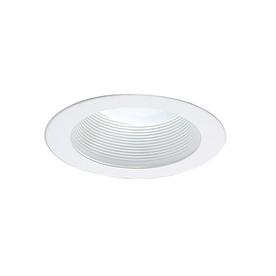 Nicor Lighting White Baffle Recessed Light Trim (Fits Housing Diameter: 4-in)