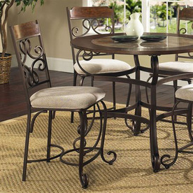 Steve Silver Company Set of 2 Callistro Bronze Dining Chairs