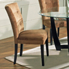 Steve Silver Company Set of 2 Matinee Black Dining Chairs