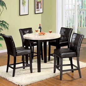 Shop Furniture Of America Marion Espresso Dining Set At