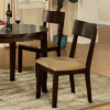 Furniture of America Set of 2 Portsmouth Dark Walnut Dining Chairs