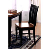 Furniture of America Set of 2 Earlham I Antique Black Dining Chairs