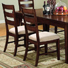 Furniture of America Set of 2 Priscilla Antique Oak Dining Chairs