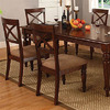 Furniture of America Set of 2 Myrtle Beach III Dark Oak Dining Chairs