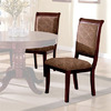 Furniture of America Set of 2 Saint Nicholas I/II Cherry Dining Chairs