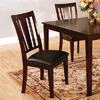 Furniture of America Set of 2 Bridgette Espresso Dining Chairs