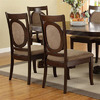 Furniture of America Set of 2 Evelyn Dark Walnut Dining Chairs