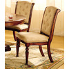 Furniture of America Set of 2 Majesta I Dark Walnut Dining Chairs