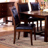 Furniture of America Set of 2 Living Stone Tobacco Oak Dining Chairs