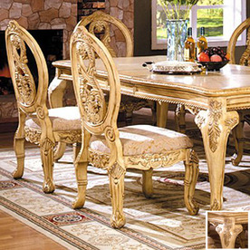 Shop Furniture Of America Set Of 2 Tuscany Antique White Wash Dining Chairs A