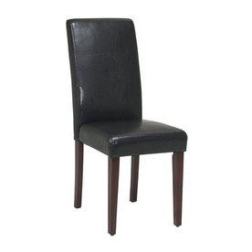 Shop Office Star OSP Designs Espresso Dining Chair At
