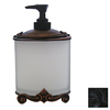Anne at Home Black with Chocolate Wash Soap/Lotion Dispenser