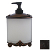 Anne at Home Black with Cherry Wash Soap/Lotion Dispenser