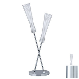 Paulmann 39-1/8-in Chrome Table Lamp with Biodola Opal Shade