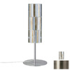 Paulmann 15-3/4-in Brushed Nickel Table Lamp with Fabro Gold Shade