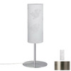 Paulmann 15-3/8-in Brushed Nickel Table Lamp with Cilento Ivory Shade