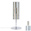 Paulmann 15-3/4-in Chrome Table Lamp with Fabro Gold Shade