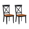 Home Styles Set of 2 Black/Cottage Oak Side Chairs