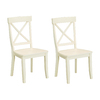Home Styles Set of 2 Antique White Dining Chairs